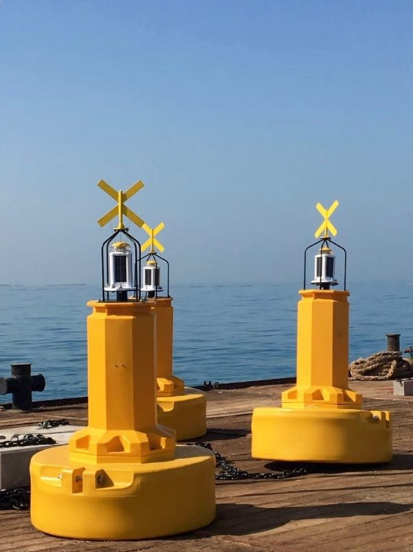 1,250mm dia Ecobarrier Navigation Buoys