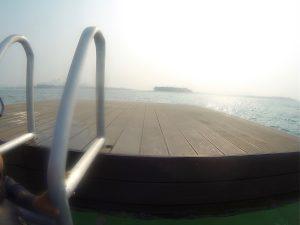 Floating swimming & diving platform