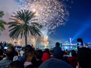 Abu Dhabi Corniche, NYE Fireworks 2019