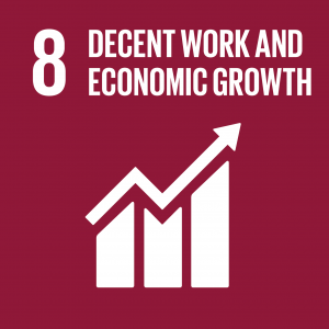 CONTRIBUTING TO THE UNITED NATIONS GLOBAL GOALS – the 17 Sustainable Development Goals (SDGs), SDG 8