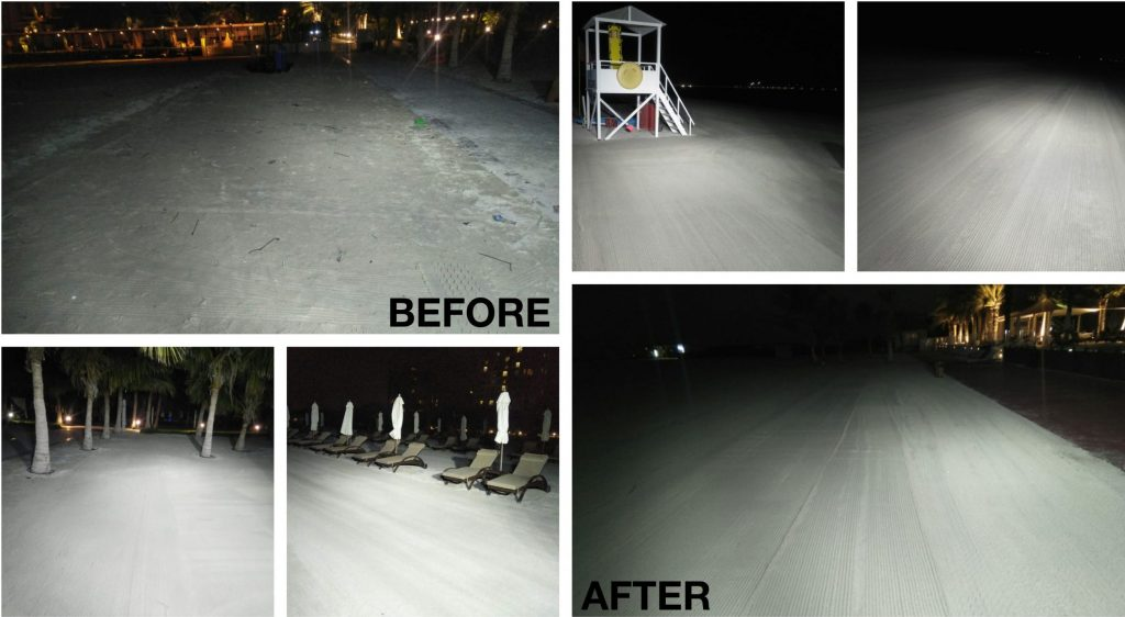 Beach cleaning in Ras Al Khaimah - before & after
