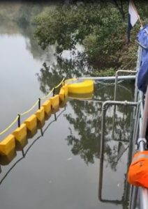 Bolina booms help protect biodiversity on the River Bure