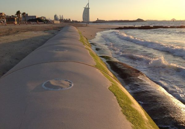 Coastal Protection Barriers: Ecobarrier Geosynthetic Containers (geotubes)