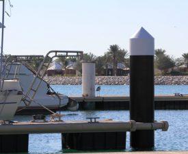 Al Hamra Marina, Marine Pile Sleeves