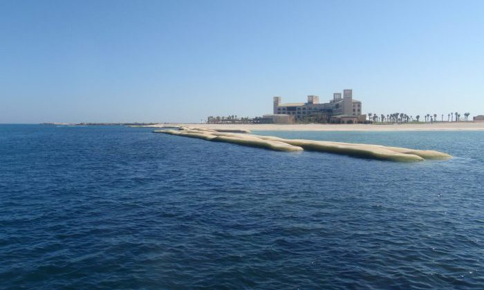 Sir Bani Yas Island, Geosynthetic Containers