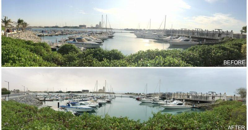 Before & After- Al Hamra Marina pile sleeving