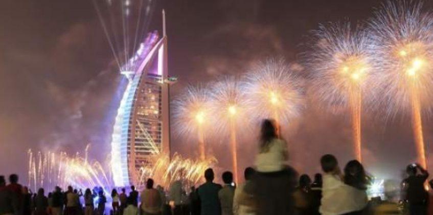 New Year's Eve Dubai fireworks 2014
