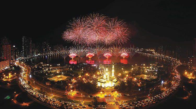 Al Majaz Waterfront, Sharjah, NYE Fireworks 2019