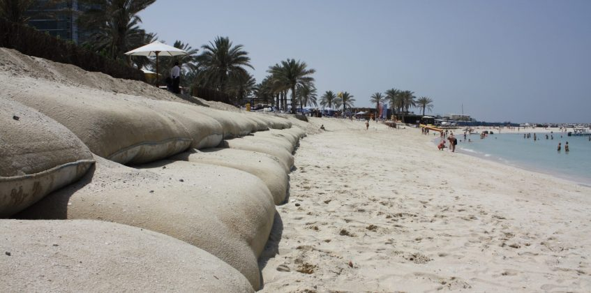 Geosynthetics as alternative solution for coastal protection